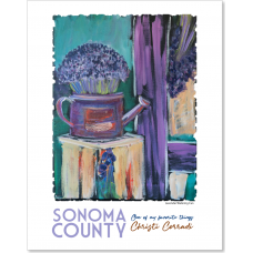 Sonoma County CA - Lavender Watering Can