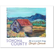 Sonoma County - Barn in Autumn Light
