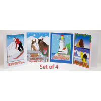 Christmas Carol Cards - Set of 4