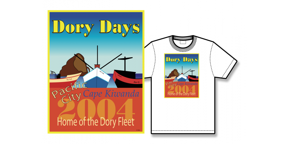2004 Dory Days Poster Tee Shirt