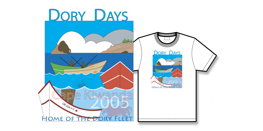 2005 Dory Days Poster Tee Shirt