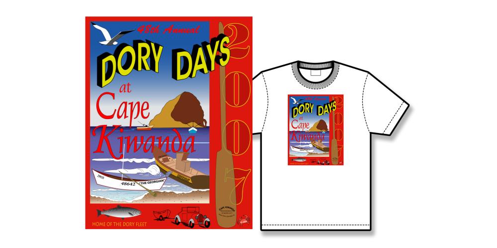 2007 Dory Days Poster Tee Shirt