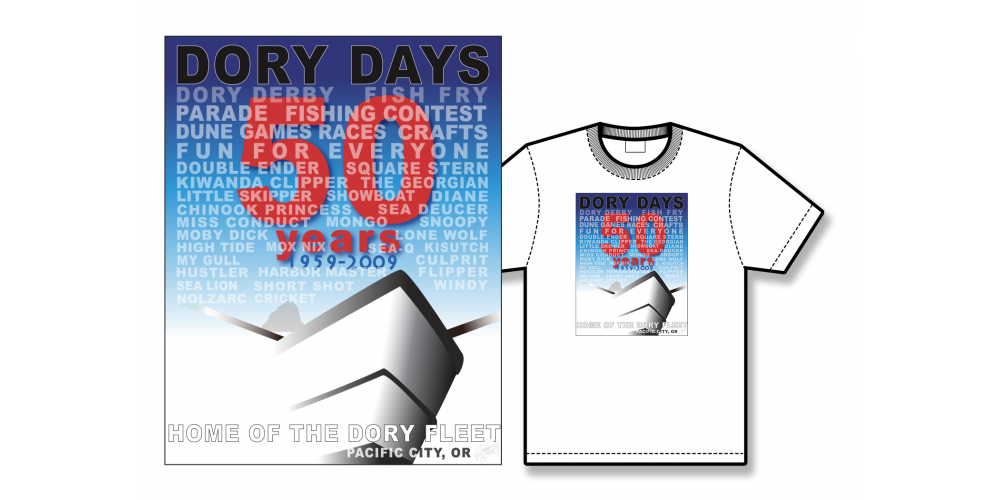 2009 Dory Days Poster Tee Shirt
