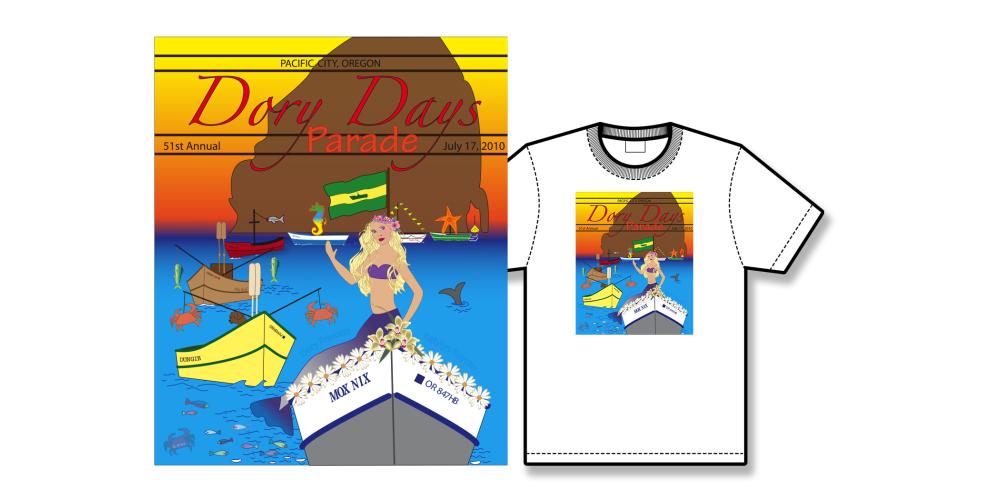 2010 Dory Days Poster Tee Shirt