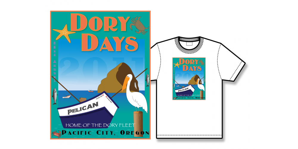 2011 Dory Days Poster Tee Shirt