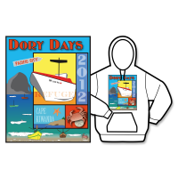 2012 Dory Days Poster Hoodie
