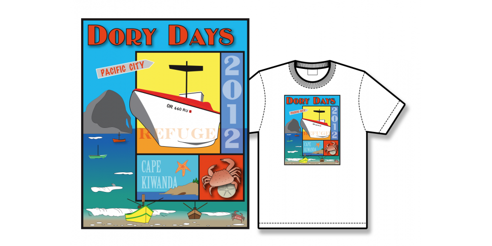 2012 Dory Days Poster Tee Shirt