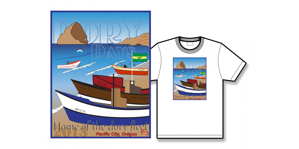 2013 Dory Days Poster Tee Shirt
