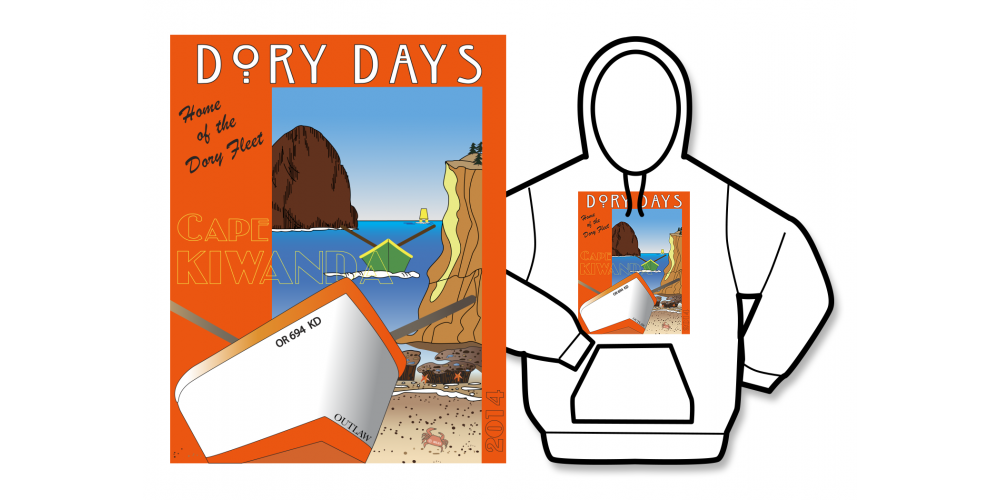 2014 Dory Days Poster Hoodie