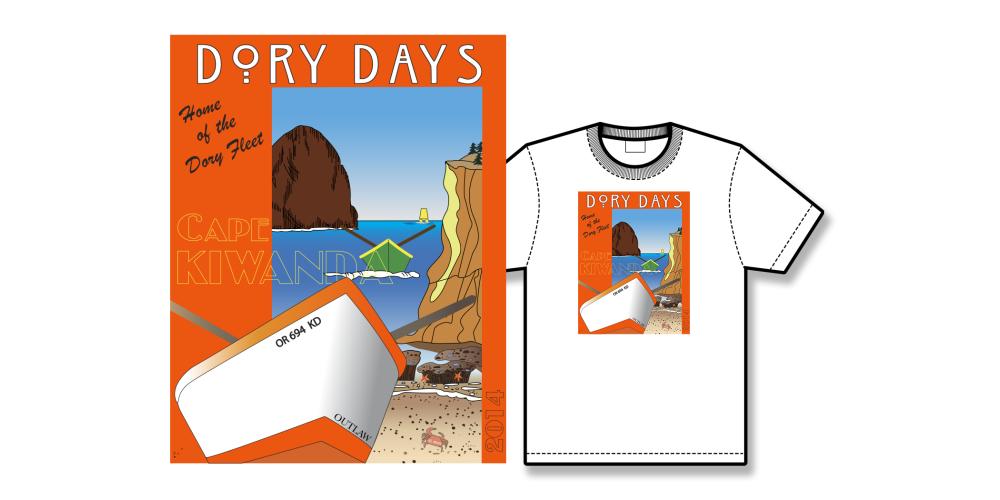 2014 Dory Days Poster Tee Shirt
