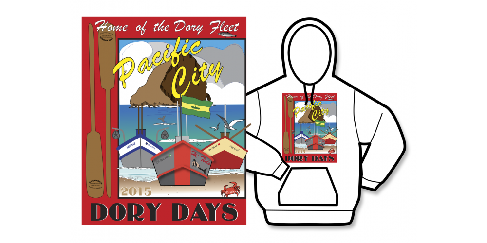 2015 Dory Days Poster Hoodie