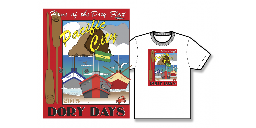 2015 Dory Days Poster Tee Shirt