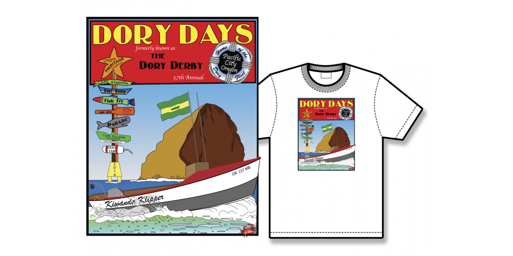 2016 Dory Days Poster Tee Shirt