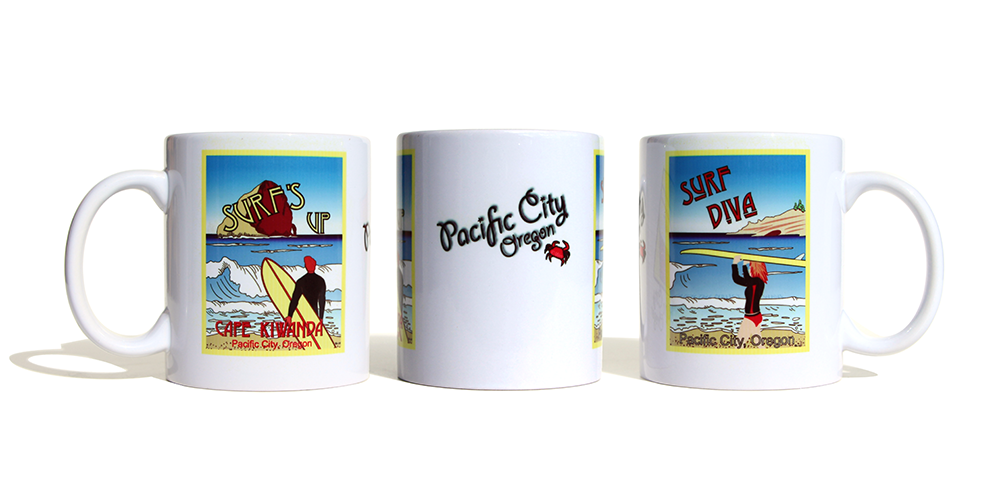 Surf Duo Mug - Surf's Up and Surf Diva - by Miles