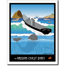 Oregon Coast Dory - Moby Dick - by Miles