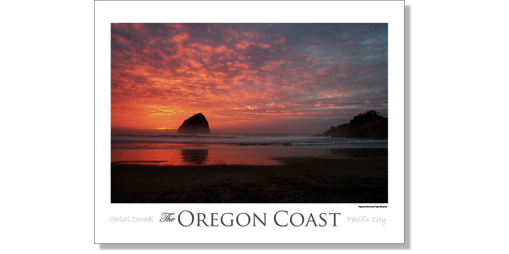 Pacific City - Haystack Rock [Red] - Christi Corradi