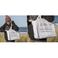Shore Birds No.1 Canvas Tote by Rod Whaley