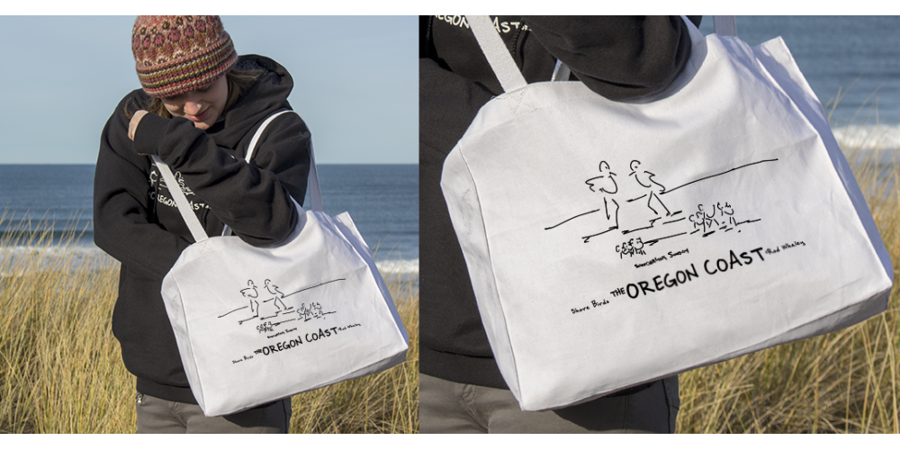 Shore Birds No.12 Canvas Tote by Rod Whaley