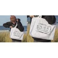 Shore Birds No.4 Canvas Tote by Rod Whaley