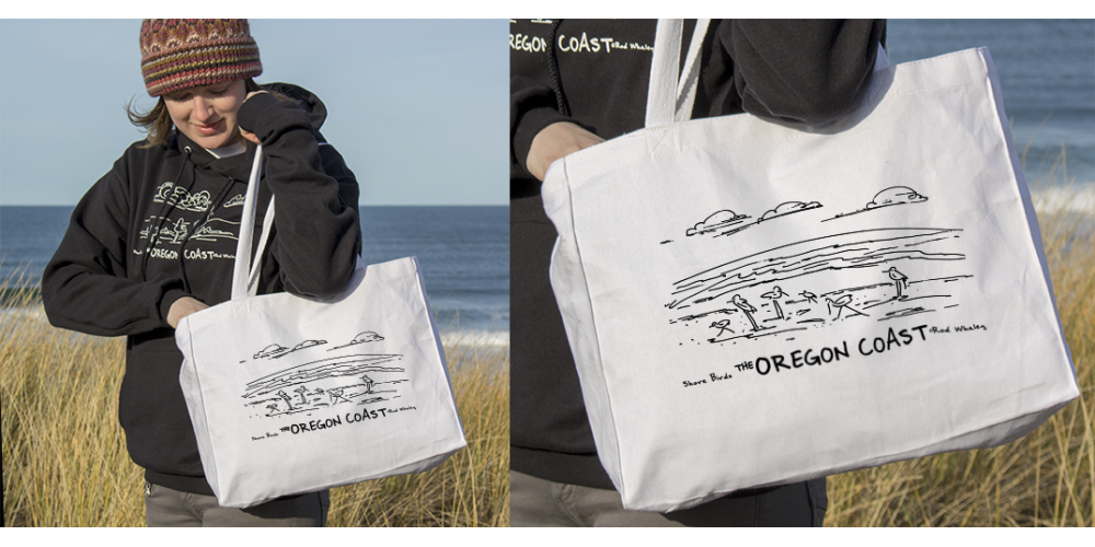 Shore Birds No.7 Canvas Tote by Rod Whaley