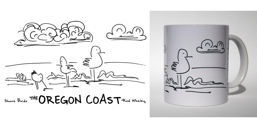 Shore Birds No.1 Mug by Rod Whaley