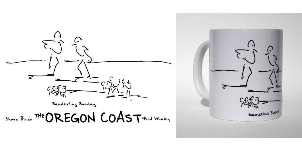Shore Birds No.12 Mug by Rod Whaley