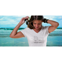 Shore Birds No.12 V-Neck by Rod Whaley