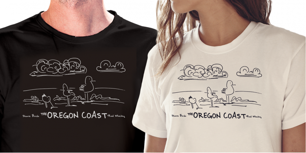 Shore Birds No.1 T-Shirt by Rod Whaley