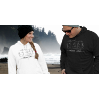 Shore Birds No.4 Hoodie by Rod Whaley