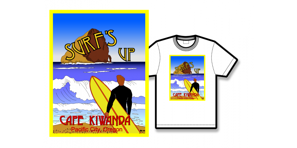 Surf's Up Poster Tee Shirt