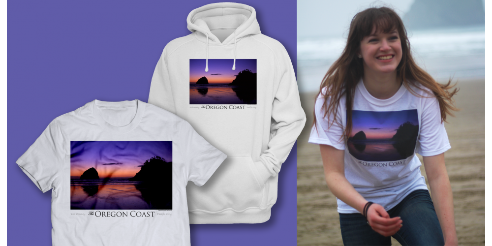 The Oregon Coast - Tee's and Hoodies - by Rod Whaley