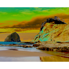Cape Kiwanda and Haystack Rock - No.9729